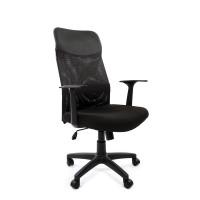 Кресло руководителя Chairman 610 LT, PL, ткань черная, механизм качания