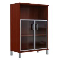 Шкаф средний с малыми стеклянными дверьми в AL рамке Skyland Born 420.4 900х435х1136