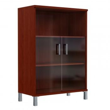 Шкаф средний с малыми стеклянными дверьми в  Skyland Born 420.5 900х435х1136