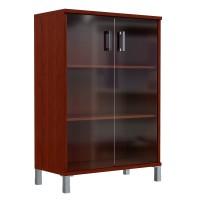 Шкаф средний со стеклянными дверьми Skyland Born 420.8 900х435х1136