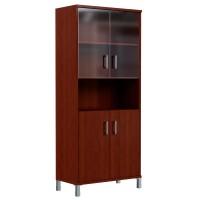 Шкаф высокий с малыми стеклянными и глухими дверьми Skyland Born 430.10 900х435х1904