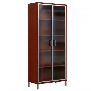 Шкаф высокий со стеклянными дверьми в AL рамке Skyland Born 430.8 900х435х1904